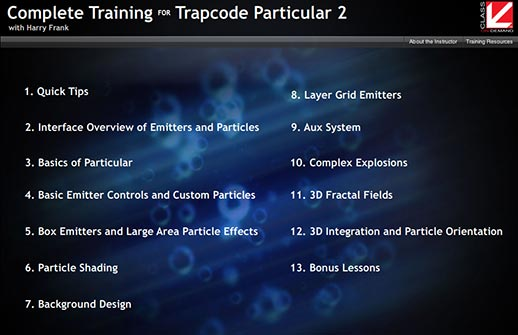 Class On Demand Complete Training For Trapcode Particular 2